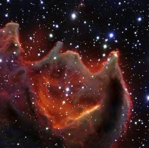 """Astronomové vyfotografovali """"čelisti bestie"""""""